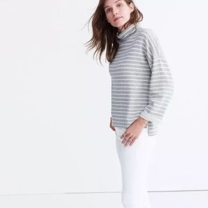 Madewell Note Funnel Neck Stripe Sweater